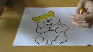 Hướng dẫn tô màu cho bé các nhân vật hoạt hình trên giấy part 5
