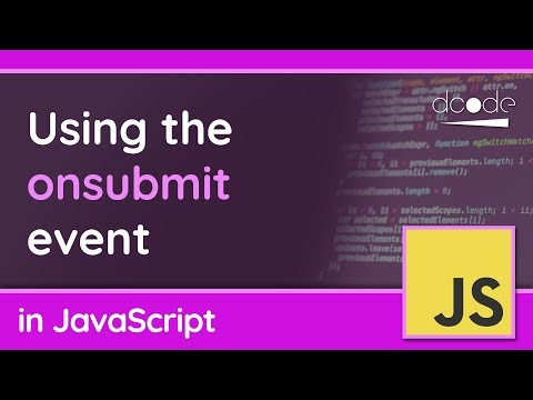 """The """"submit"""" event on forms in JavaScript"""
