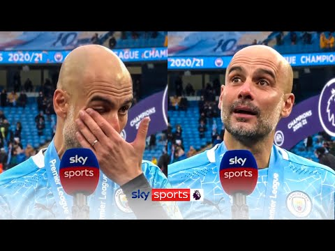 Pep Guardiola breaks down into tears speaking about Sergio Aguero leaving Manchester City