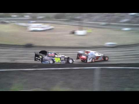 Superbowl Speedway modified heat 7-23-16