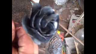 How to Forge a Blacksmithed Steel Rose