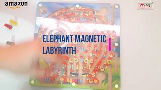 Wooden Snakes And Ladders And Elephant Magnetic Labyrinth - Toys Of Wood Oxford