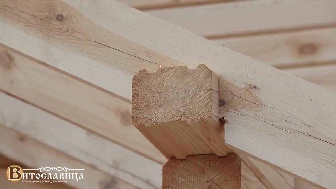 Витославица строит - Дом из профилированного бруса с гаражом