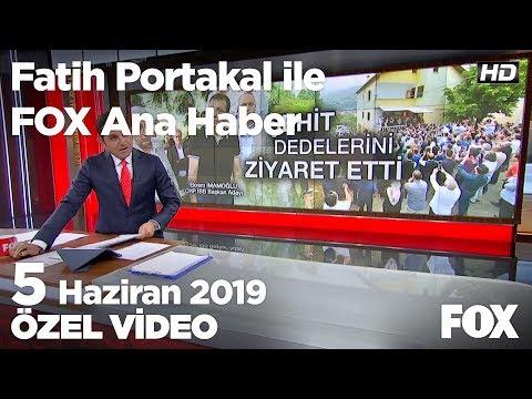 Ekrem İmamoğlu doğduğu köyde... 5 Haziran 2019 Fatih Portakal ile FOX Ana Haber