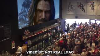 Live Crowd Reactions of Keanu Reeves in Cyberpunk 2077