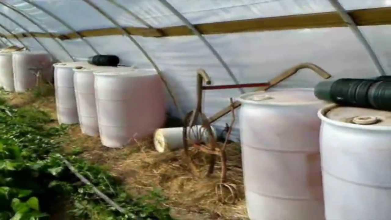 Extending Greenhouse Growing Season Using Water Barrels