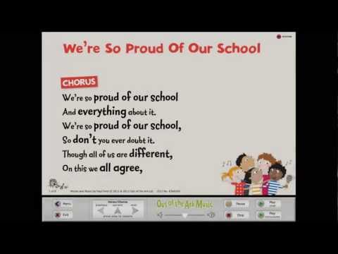 We're So Proud Of Our School [Sing Together] - Words on Screen™ Original