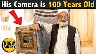 His Camera is 100 Years Old (he took my portrait!)