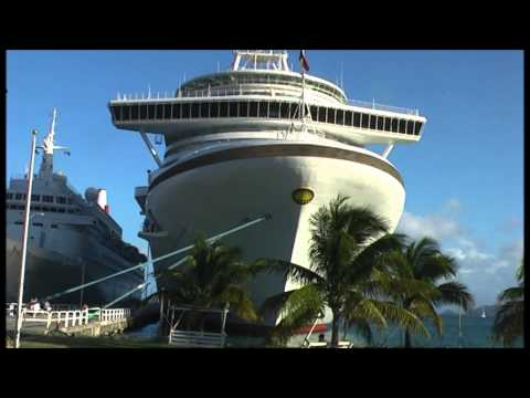 P & O Ventura Caribbean Cruise 2008 & Maho Beach St Maarten