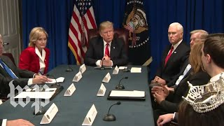 Trump participates in a roundtable on the 'First Step Act'