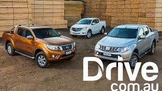 2015 Mitsubishi Triton v Nissan Navara v Mazda BT-50 Comparison | Drive.com.au