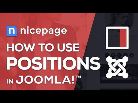 How To Use Joomla Positions In Nicepage Website Builder