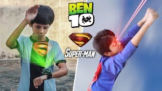 Ben 10 Transforming into Superman | A Short film VFX Test