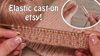 Легкий эластичный набор петель спицами, видео 🖖🏻 Elastic cast-on etsy