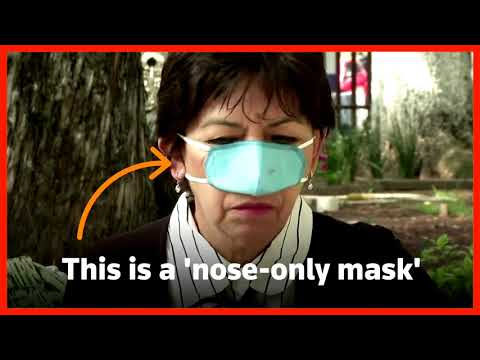 Mexican researchers make 'nose-only mask'
