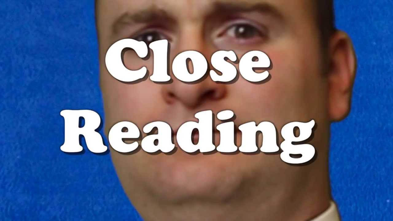 medium resolution of How to do a Close Reading - TeachLikeThis - YouTube