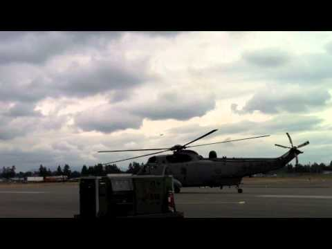 Raw Sound:  Sikorsky CH-124 Sea King Helicopter Startup, Taxi, Takeoff, Landing