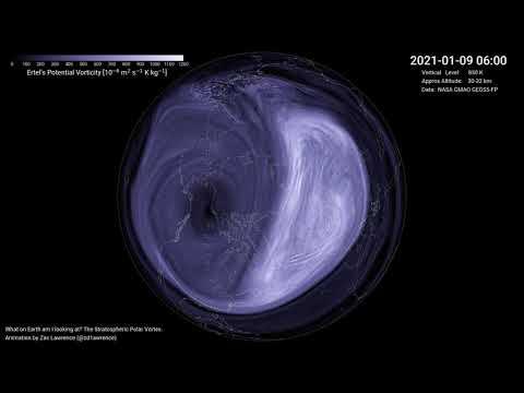 Winter 2020/2021: Evolution of Polar Vortex in Middle Stratosphere