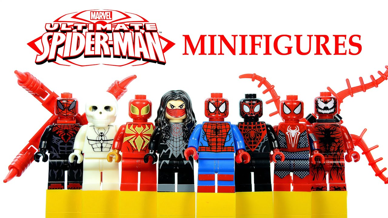 Aninimal Book: Ultimate Spider-Man LEGO KnockOff Minifigures Set Review w ...