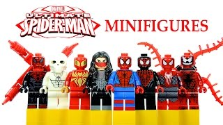 Ultimate Spider-Man LEGO KnockOff Minifigures Set Review w/ Iron Spider & Superior Spider-Man