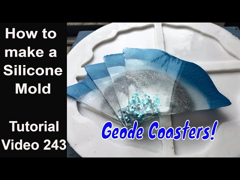 Make your own silicone mold for resin/ start to finish/ make geode coasters