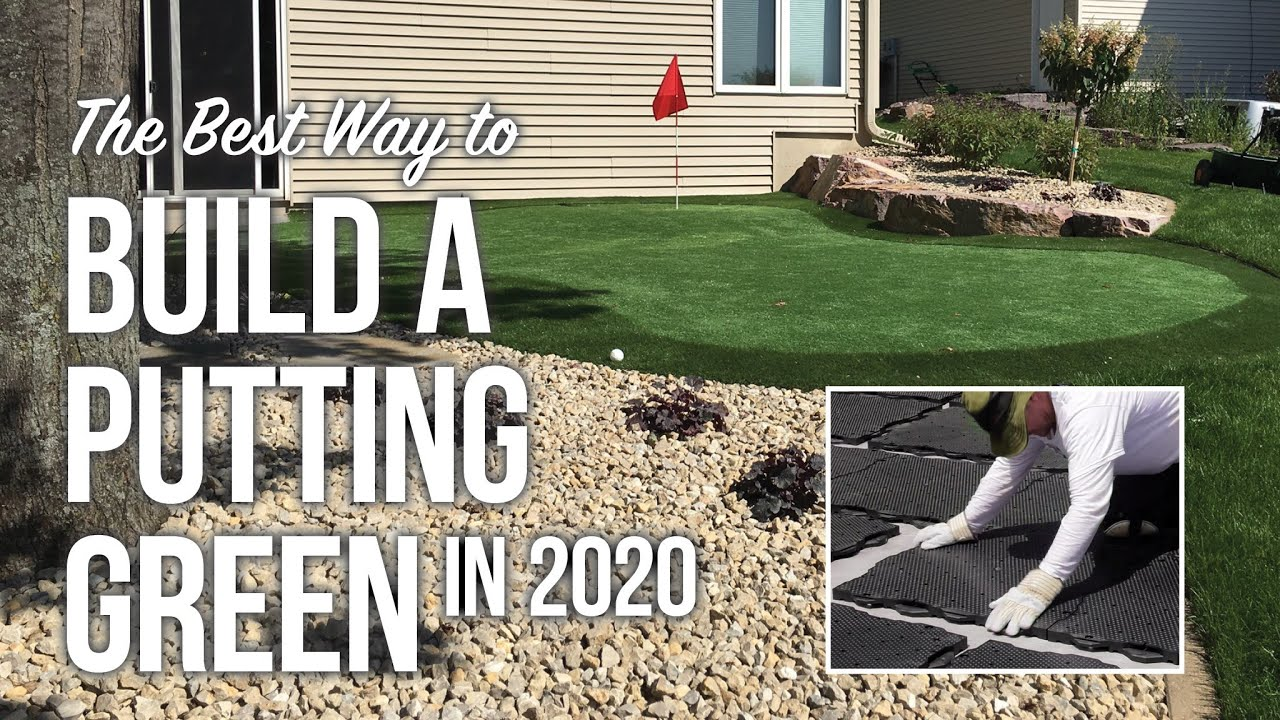 The Best Way To Build A Putting Green, Build Putting Green In Garden