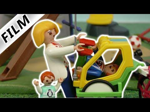 Playmobil Film deutsch | JULIAN STECKT IM FAHRRAD ANHÄNGER FEST! Kinderserie Familie Vogel
