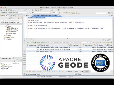 SQL/JDBC access to Apache Geode and GemFire (DBeaver) - YouTube