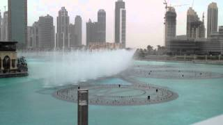 The Dubai Fountain - Day Time Show #2 on 4/1/2012