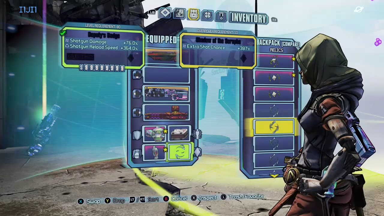 Borderlands 2 Xbox One modded weapons save OP 10