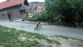 Little Boy Faceplants into Fence After Riding Bike Down Hill - 1020202