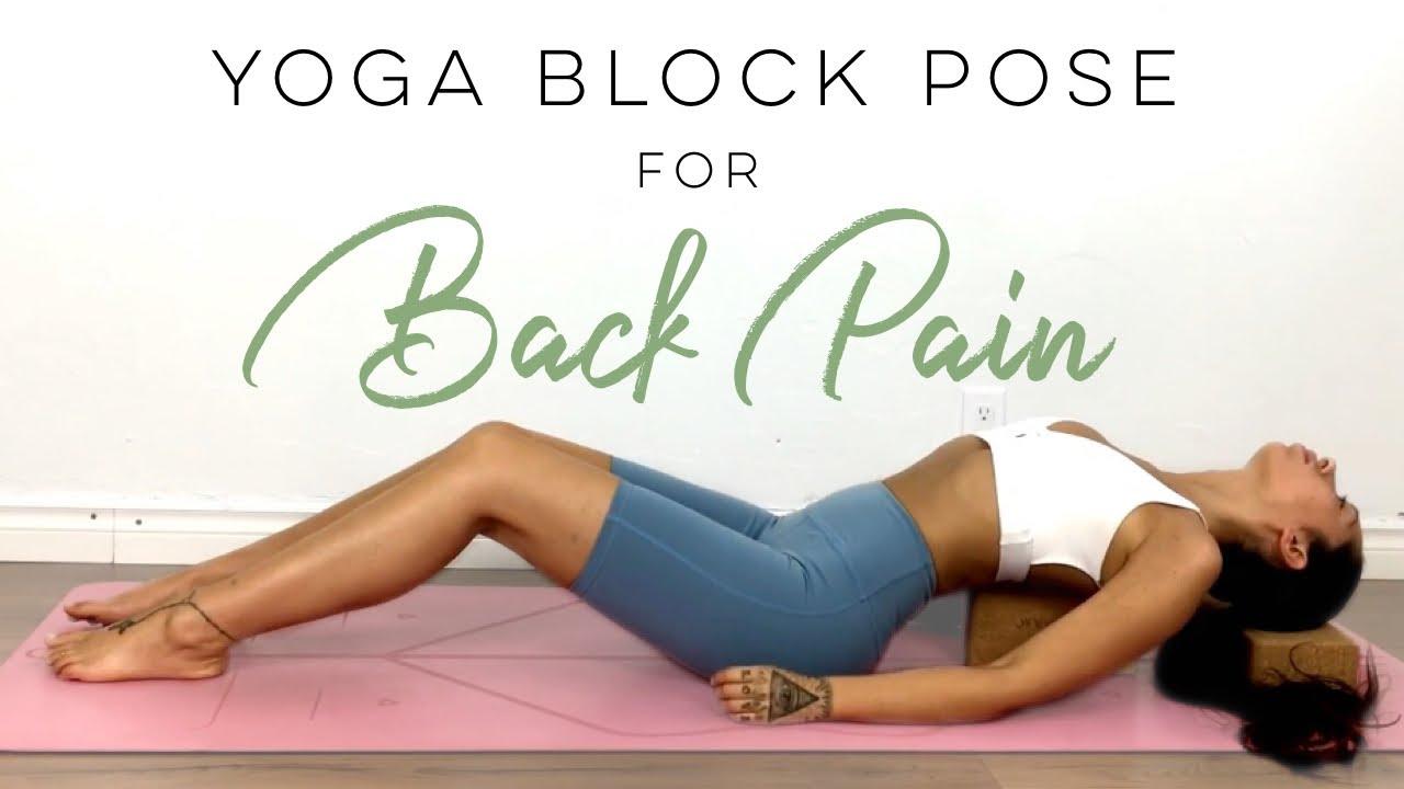 Back Pain Yoga Block