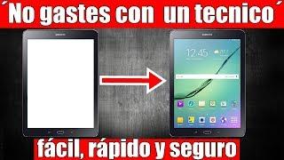 Como reparar tablet con pantalla blanca