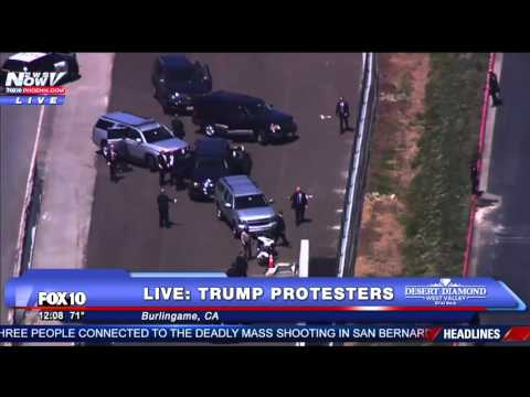 This Is What Happens When Protesters Try To Block Donald Trump = FNN