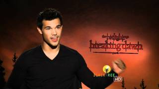 Taylor Lautner talks about his 'first' | Twilight Breaking Dawn Pt. 1