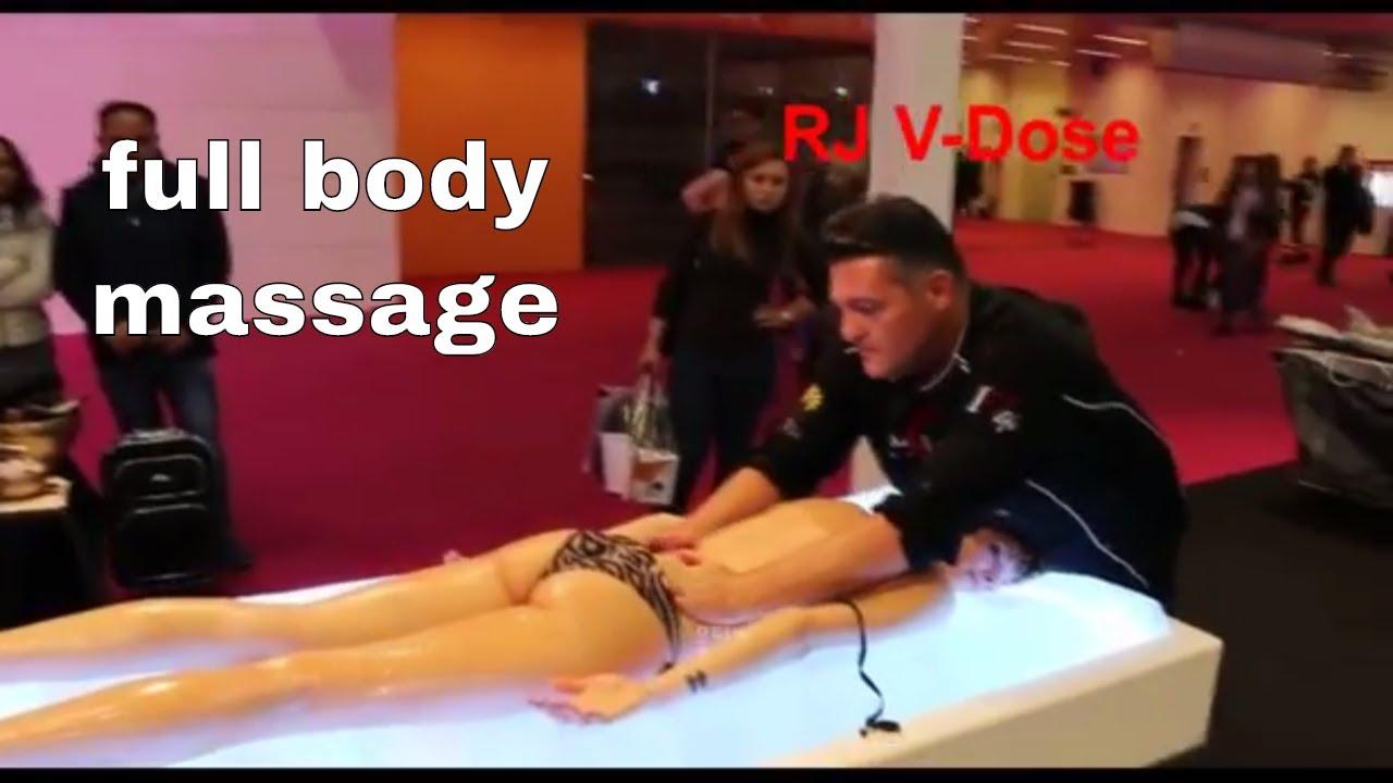 the best Full BODY massage in public - YouTube