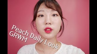 [English ASMR] Korean Peach🍑 daily make-up | GRWM | Ear-to-ear whispering