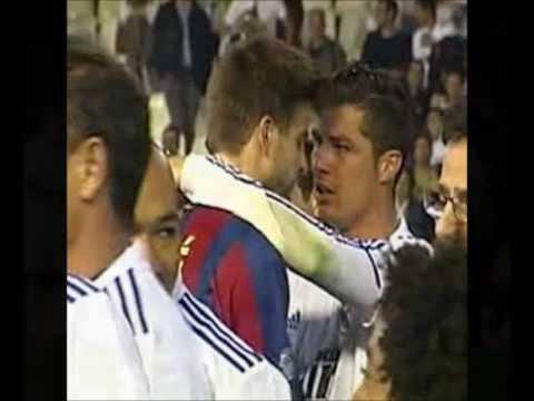 Cristiano Ronaldo & Gerard Pique So Close