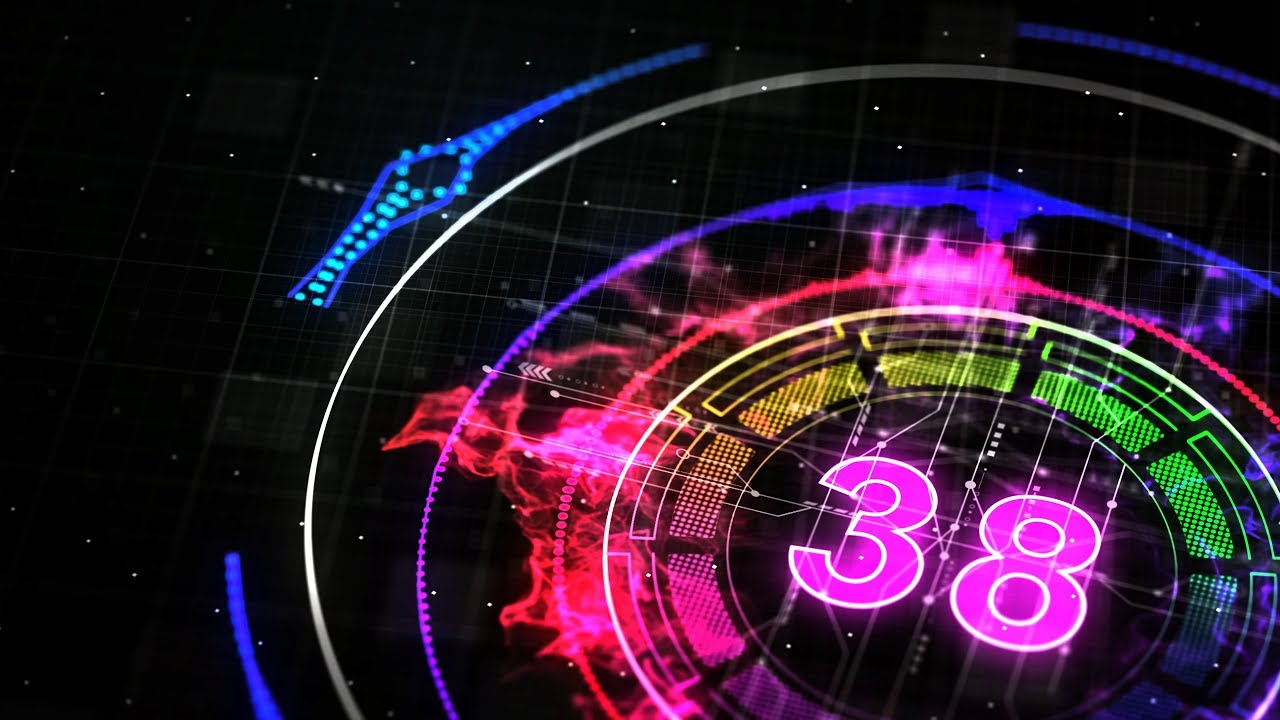 COUNTDOWN TIMER 1 min ( v 674 ) 60 sec with sound music effects 4K