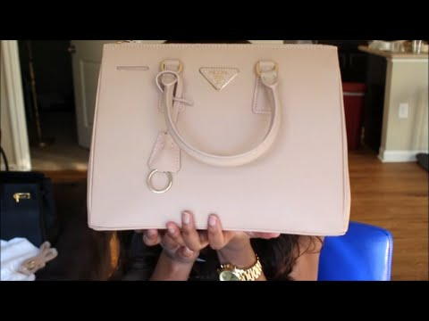25ed57afafd2ac Prada Saffiano Lux Small Double-Zip Tote Bag Replica (Review) - YouTube
