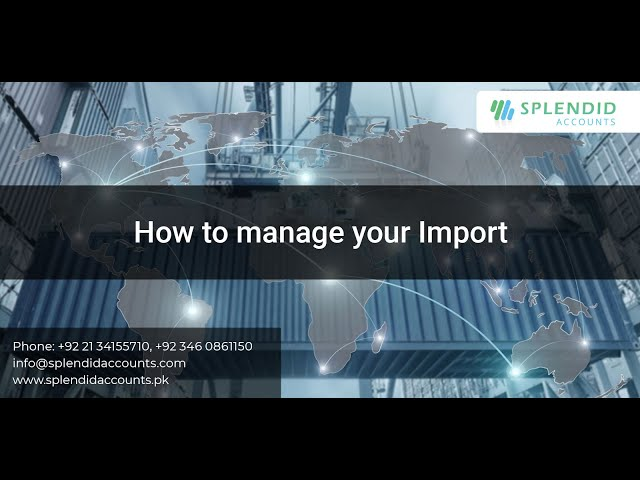 How to manage your Import in Splendid Accounts