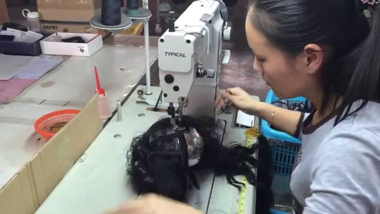 making wig with sewing machine