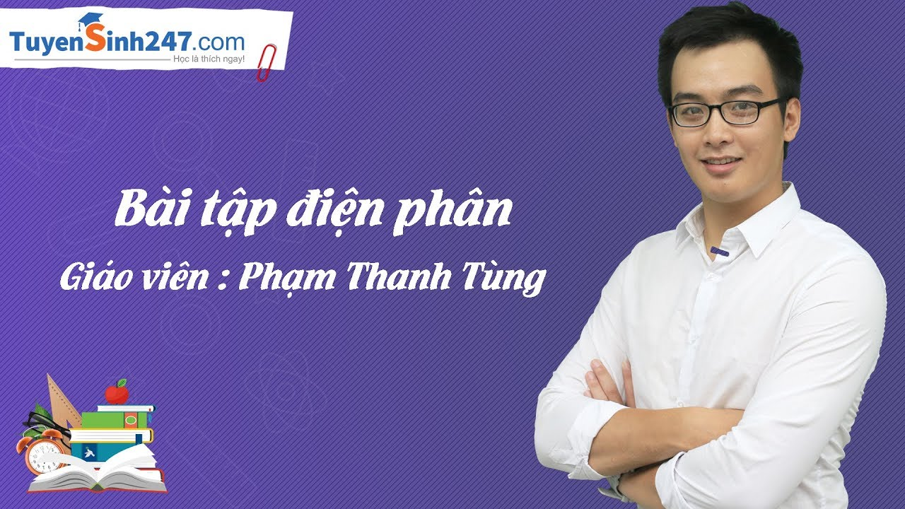 Bài tập điện phân – Hóa 12 – Giáo viên : Phạm Thanh Tùng