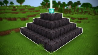 I Made a FULL NETHERITE BEACON in Minecraft Hardcore