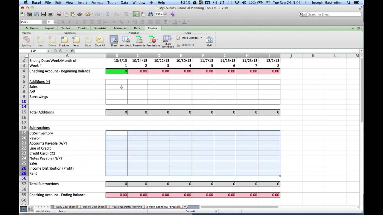 forecast template excel