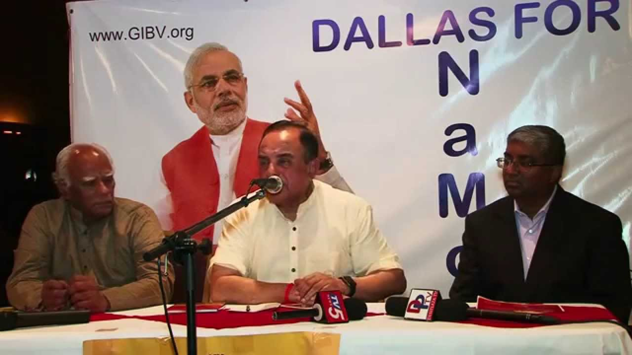 Part 1 Dr. Subramanian swamy answering questions at meet and greet in Dallas