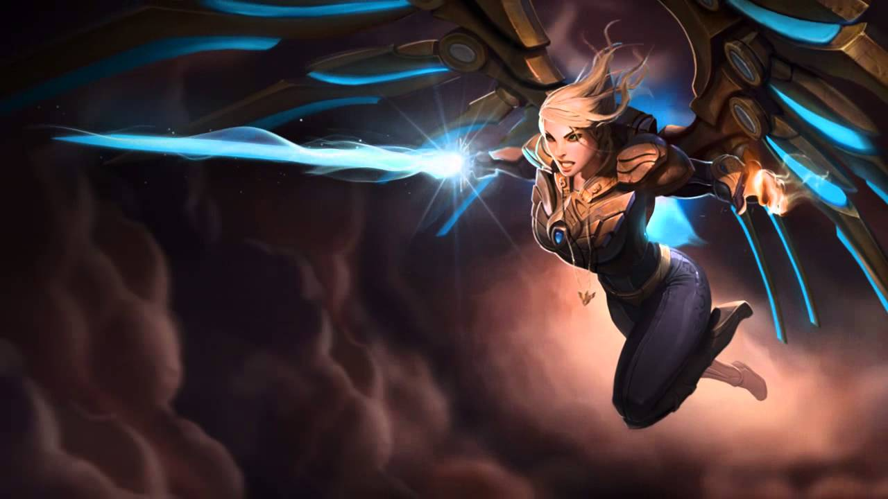 Aether Wing Kayle Login Screen League Of Legends Angels And Demons Best Waifu Aether wing kayle league of legends