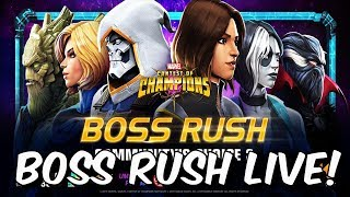 Community Boss Rush Challenge #2 LIVE /w Seatin! - September 2019 - Marvel Contest of Champions