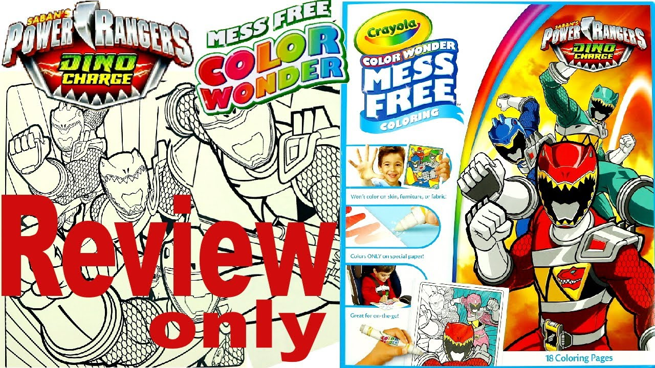 Full Coloring Book Review - Power Rangers Dino Charge - Crayola ...