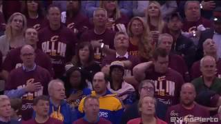 Cavs Fans Sing National Anthem  Warriors vs Cavaliers   Game 3  June 8, 2016  2016 NBA Finals